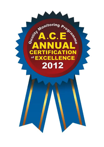 Ace Annual Certification of Excellence 2012