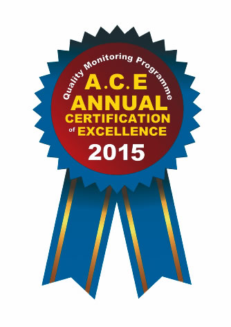 Ace Annual Certification of Excellence 2015